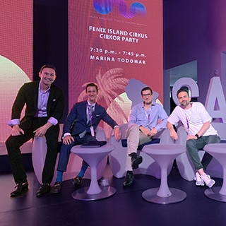 A photo of Dr. Jason Roostaeian and colleagues onstage at the South American Plastic Surgery Meeting 2019