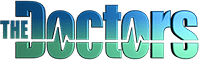 An image of The Doctors TV logo representing Dr. Jason Roostaeian's appearance on the show