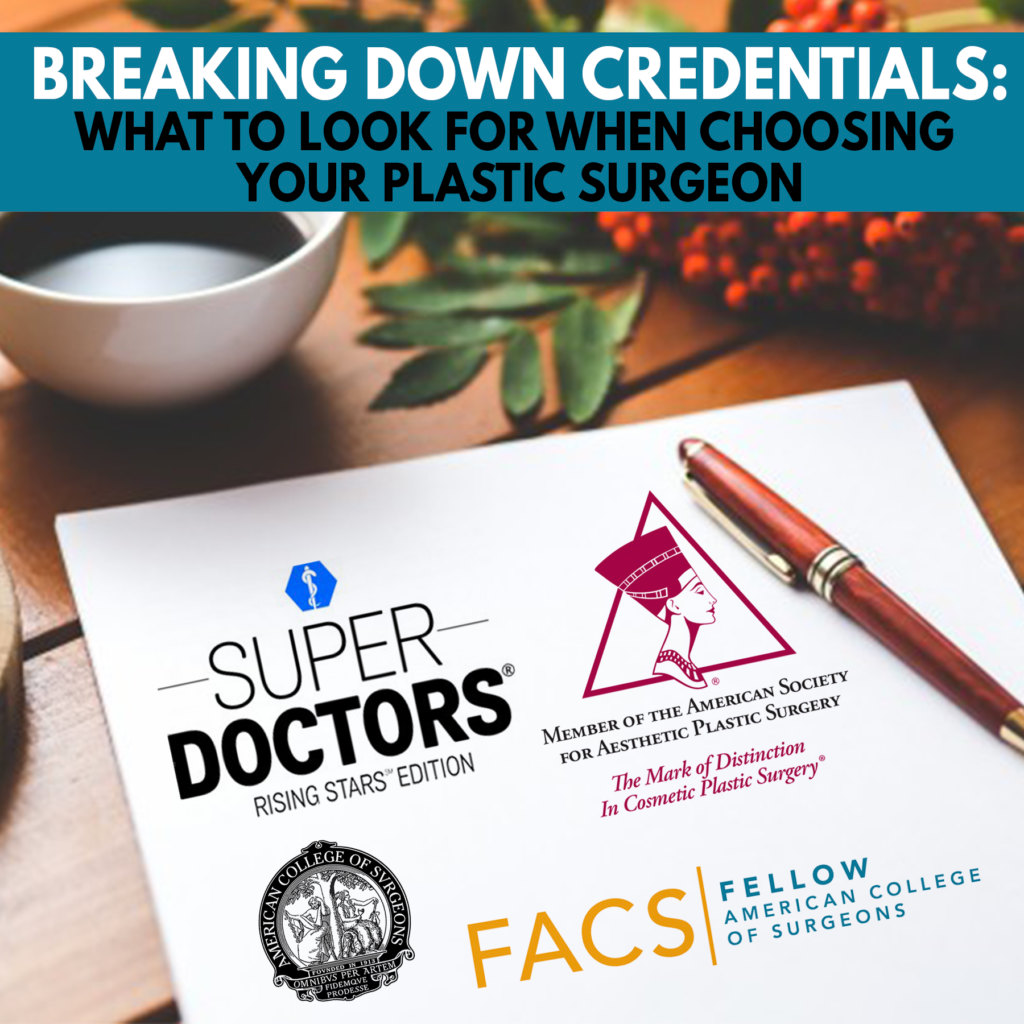 a graphic representing Dr. Jason Roostaeian's article about breaking down credentials